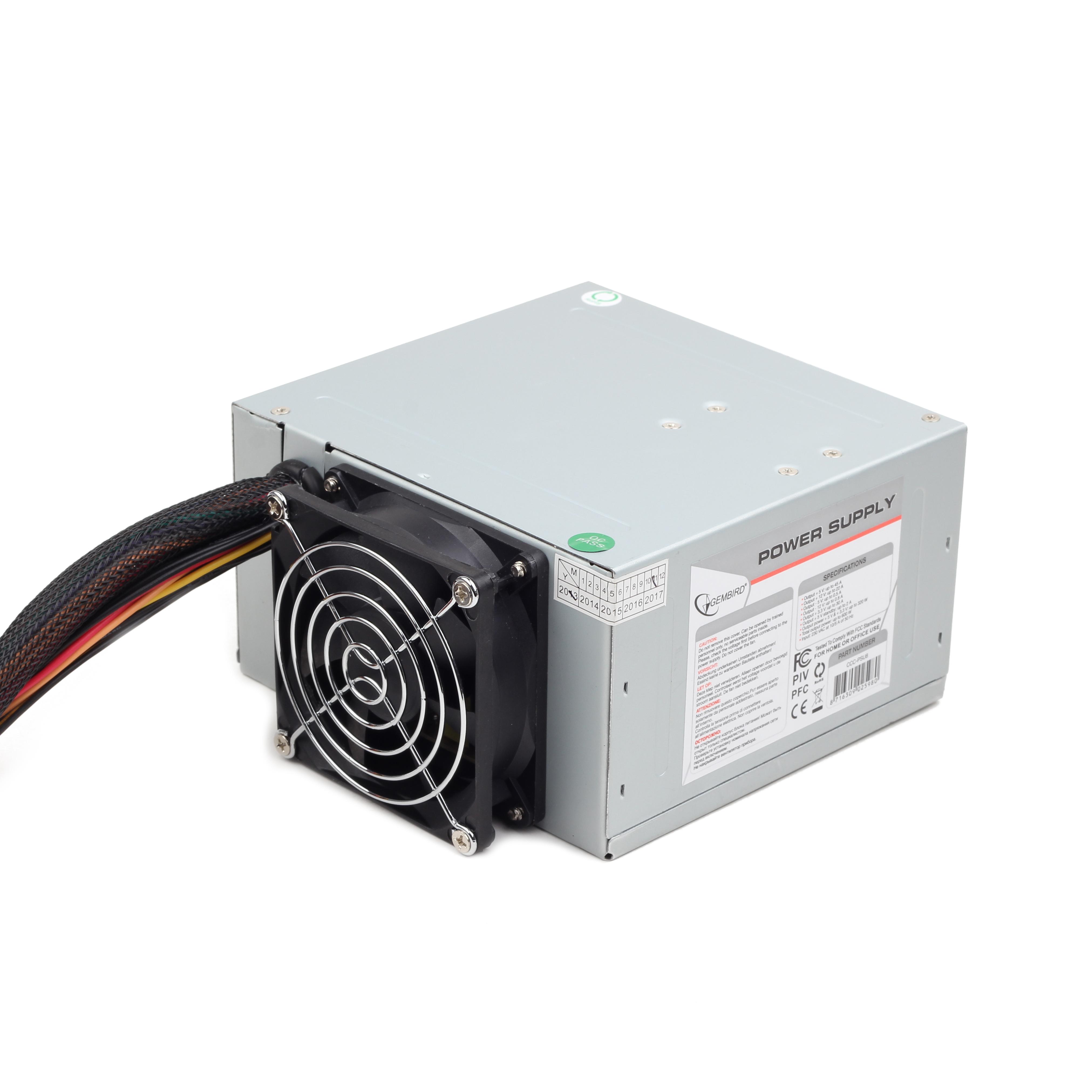 Power supply 500W ATX/BTX, CE, PFC, low noise, dual fan (CCC-PSU6)