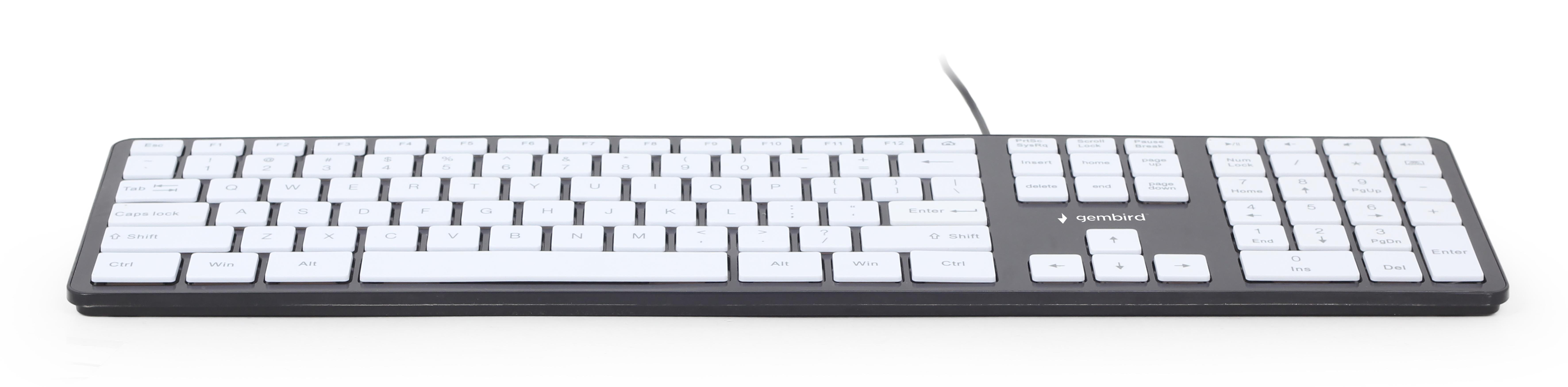 Chocolate Keyboard, US layout, black body, white keys (KB